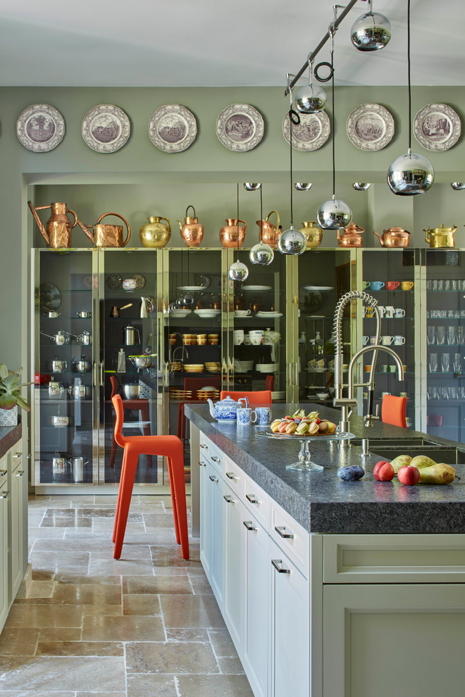 Eclectic Galley Kitchen