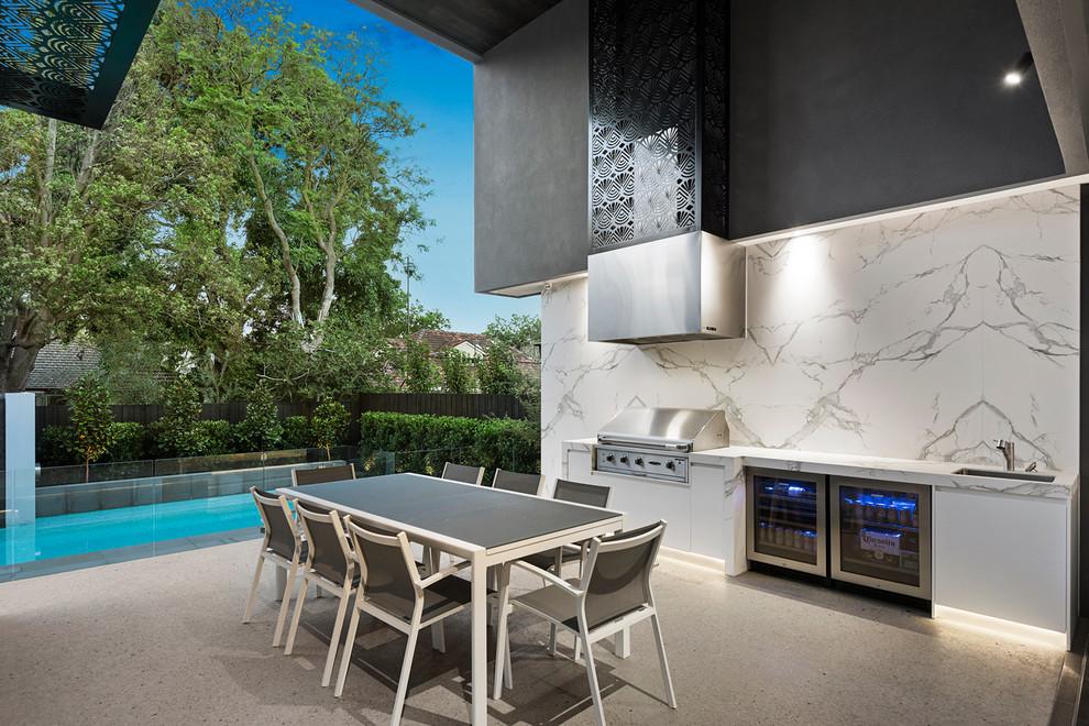 Contemporary Backyard Patio Design