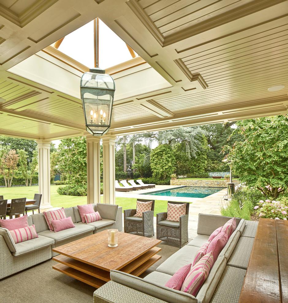 Transitional Backyard Patio Design