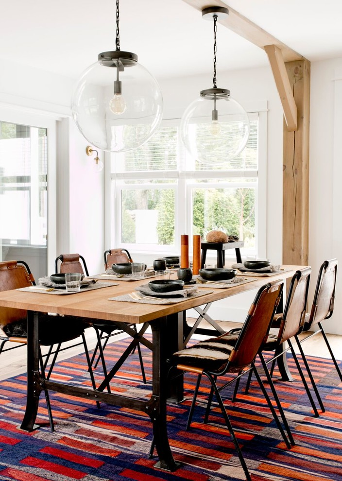 Farmhouse Colorful Dining Room Rug
