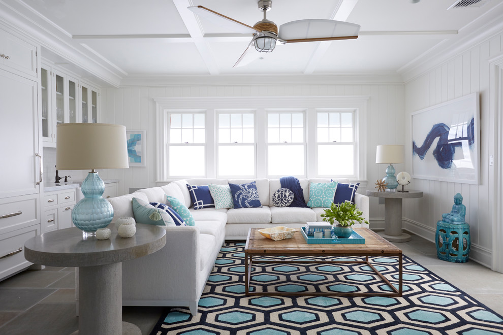 Light Airy Beach Style Colorful Rug