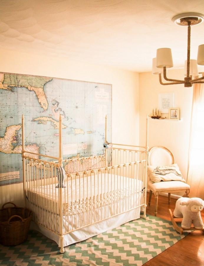 Lovely Beige Nursery Crib