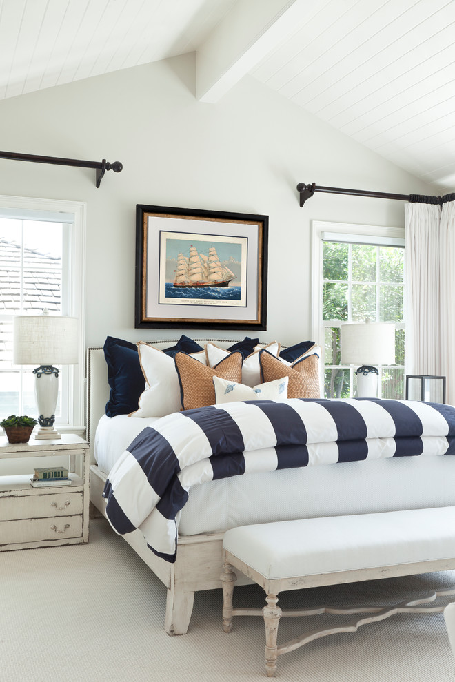 Beach Style Master Bedroom