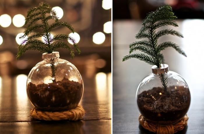 DIY Christmas Ornament Vase