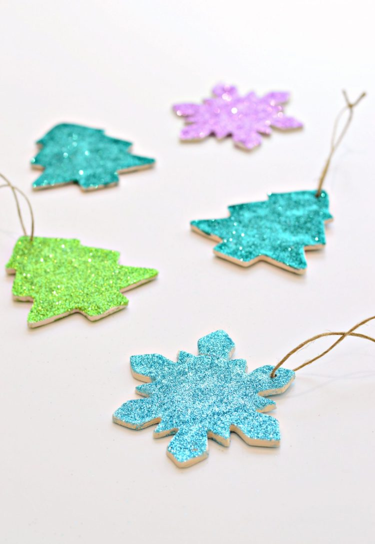 DIY Clay And Glitter Christmas Ornaments