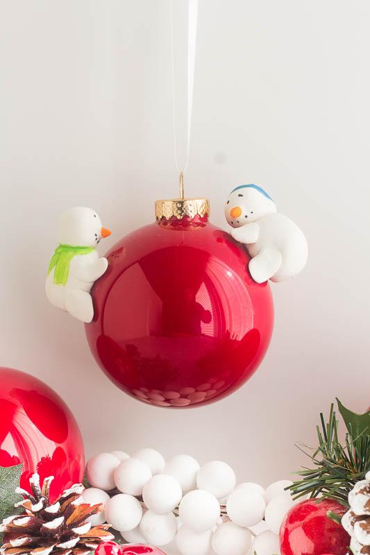 DIY Snowman Christmas Ornament