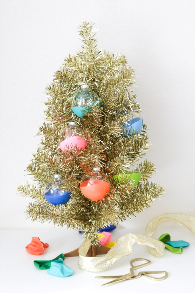 Diy Balloon Dipped Ornaments For Christmas