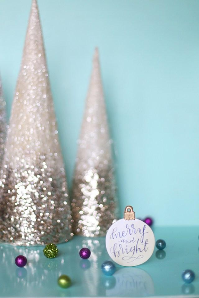 DIY Image Transfer Christmas Ornaments With Free Printable