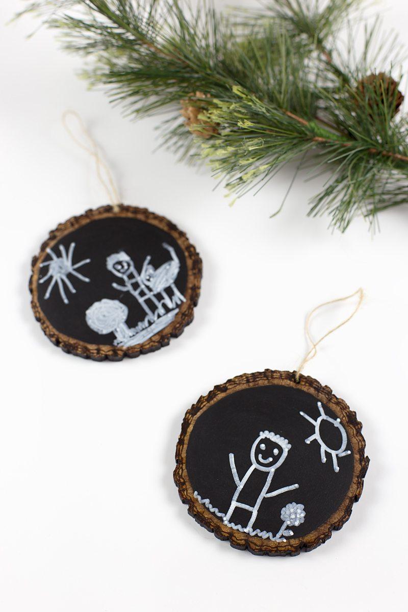 Easy Keepsake Chalkboard Ornaments