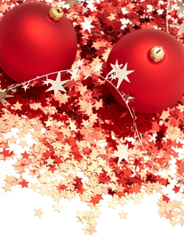 Red Christmas Balls Decorations