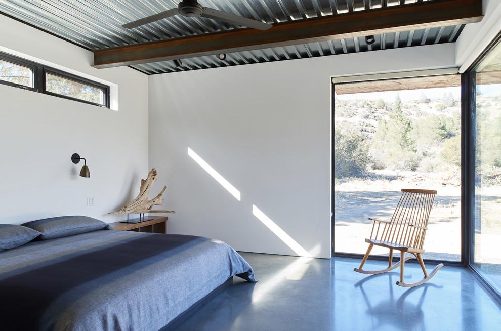 Steel Ceiling-industrial-bedroom