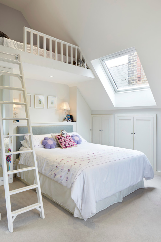 Traditional Loft-Style Bedroom