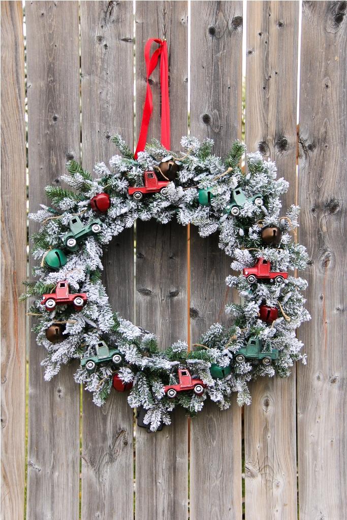 Vintage Truck Christmas Wreath