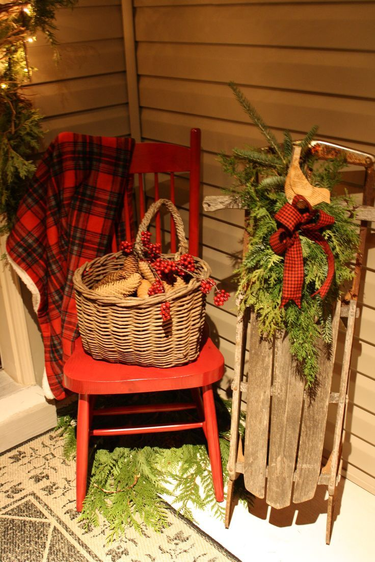 Front Porch Christmas Decoratings Ideas