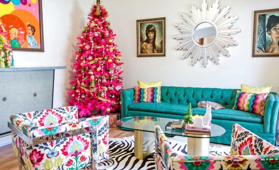 Mid-century modern Christmas decor