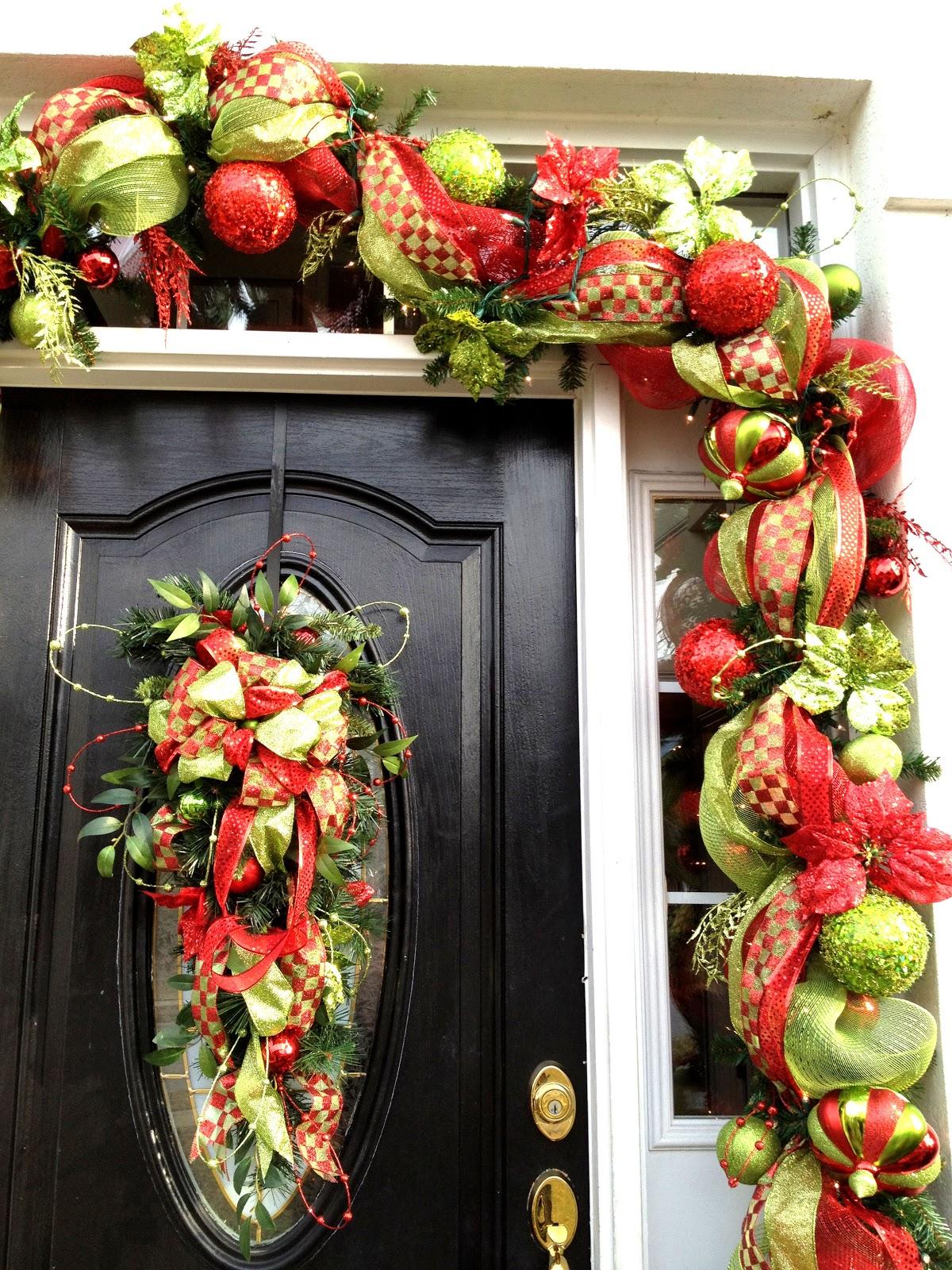 Southern Charm Deco Mesh Christmas Wreaths