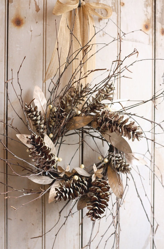 Twig Pine Cone Wreath