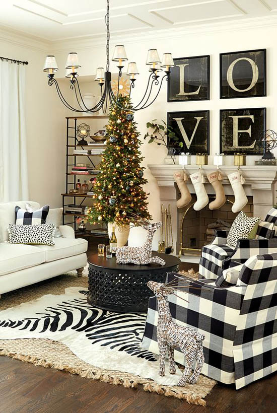 Christmas Living Room Decor Ideas (37)