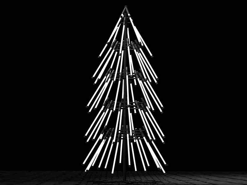 Christmas tree from light tubes Thewowdecor