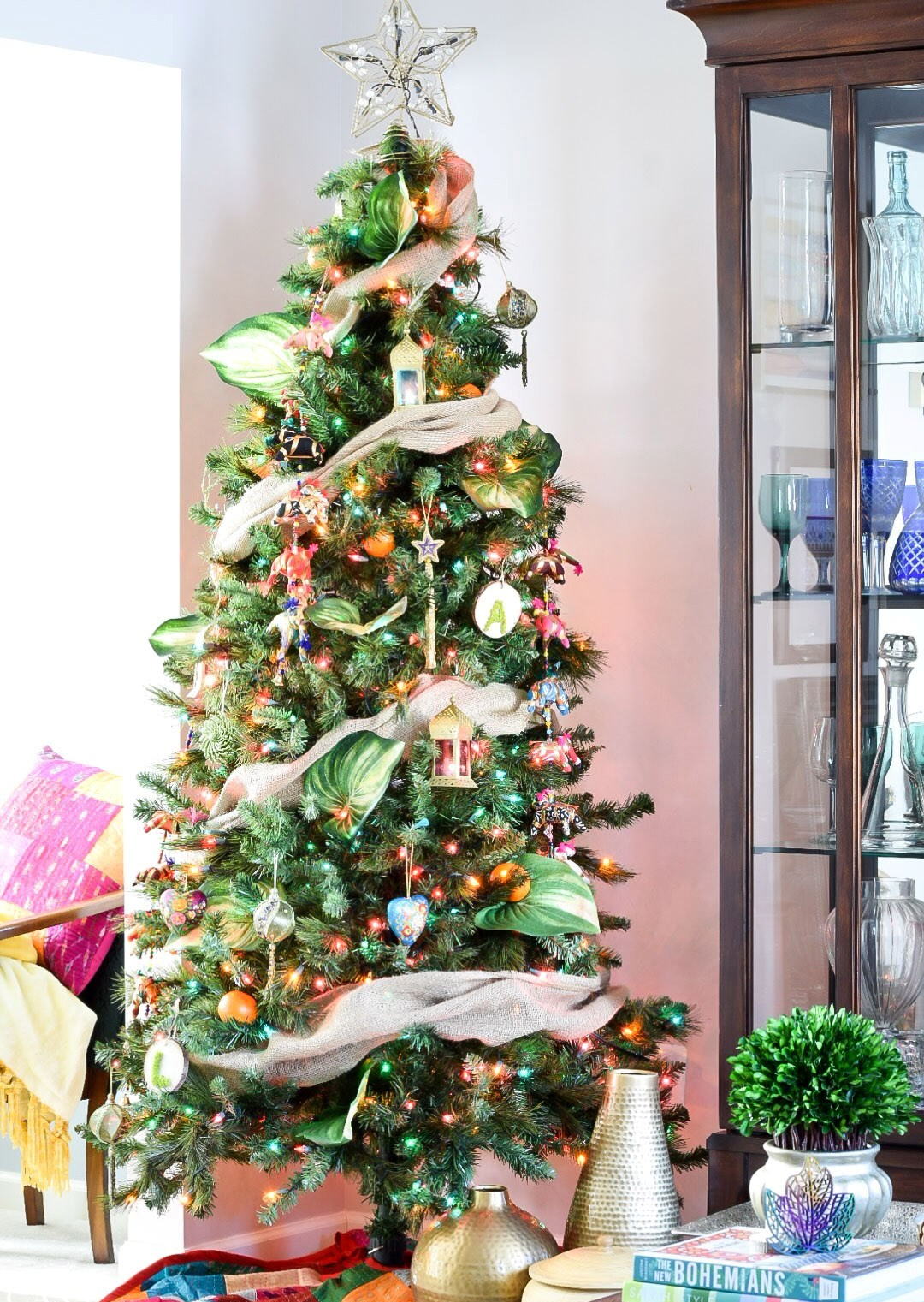 Colorful Global Boho Christmas Tree Thewowdecor