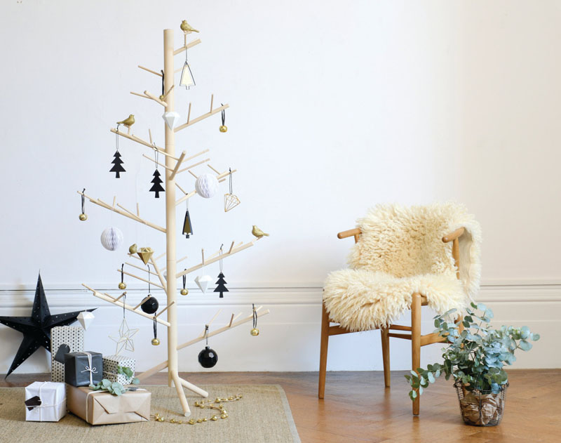 Contemporary wooden Christmas tree Dwellingdecor