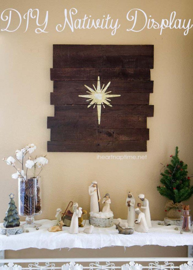 DIY Christmas Wall Art Ideas Thewowdecor (14)