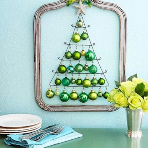 DIY Christmas Wall Art Ideas Thewowdecor (22)