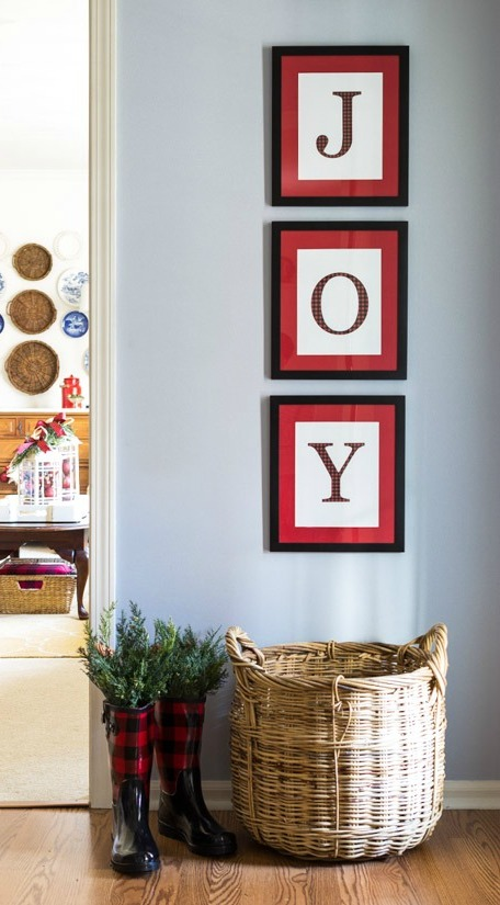 DIY Christmas Wall Art Ideas Thewowdecor (31)