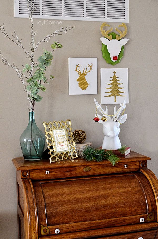 DIY Christmas Wall Art Ideas Thewowdecor (9)