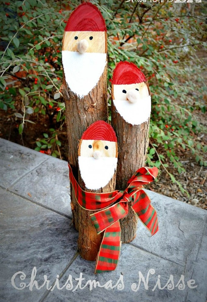 DIY Santa Logs Thewowdecor