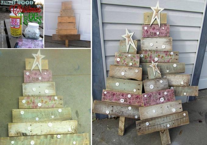 DIY Wood Pallet Christmas Trees Thewowdecor