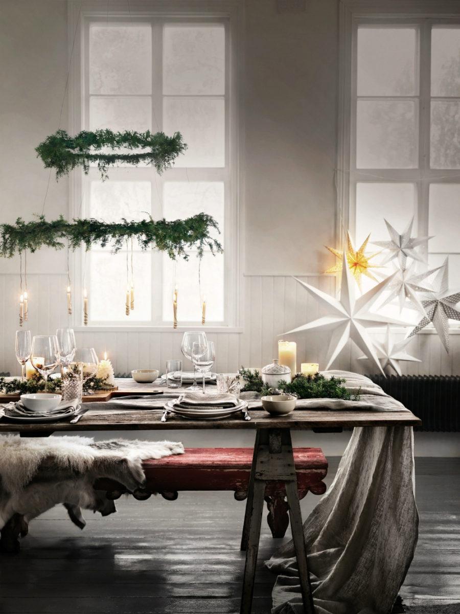 Green Christmas ceiling pendant Dwellingdecor