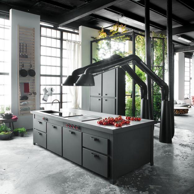 Industrial Style Loft Kitchen
