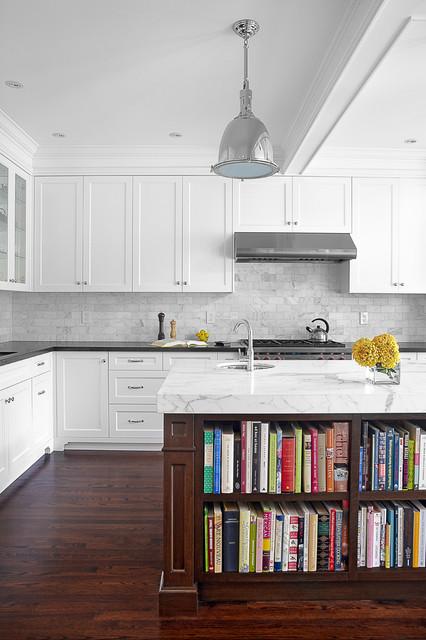 Traditional-Kitchen-Island-Bookshelf