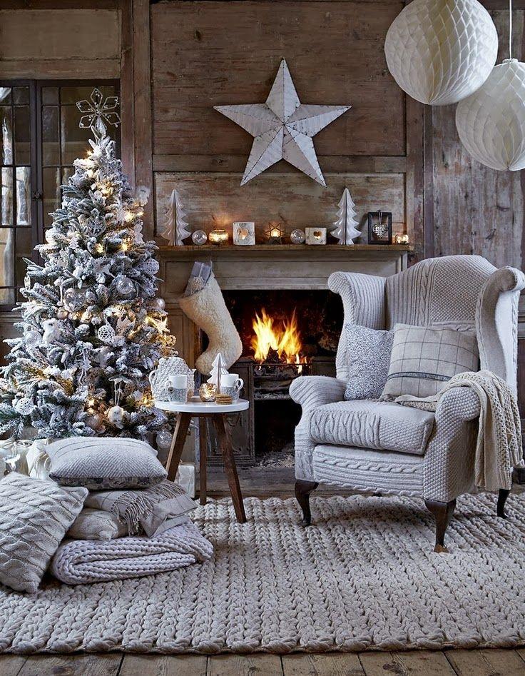 White Christmas Living Room