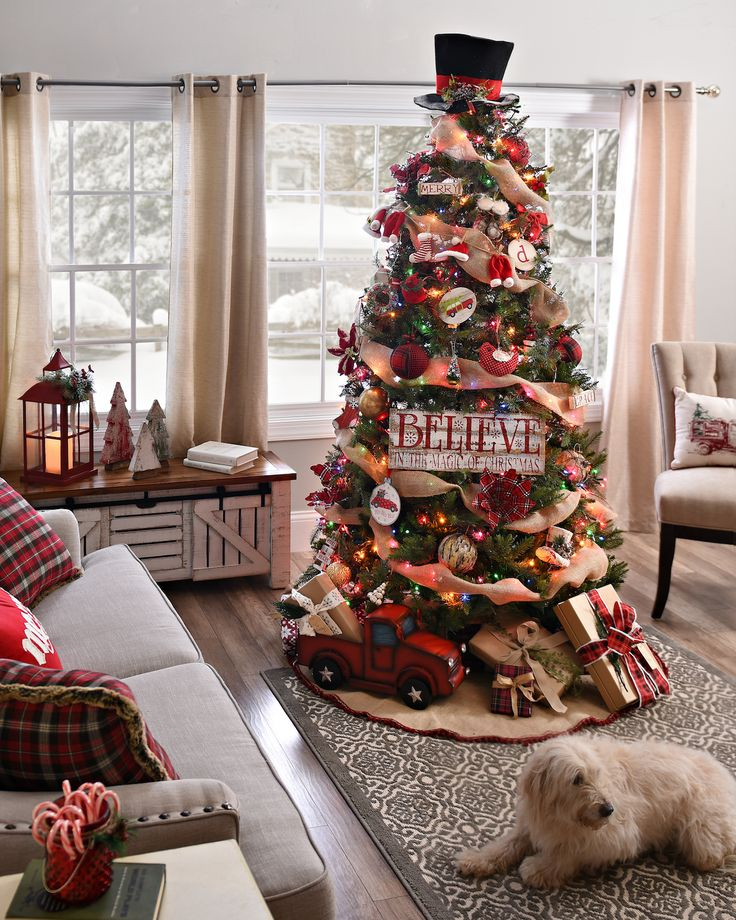 Country Christmas Tree.30 Best Country Christmas Decoration Ideas
