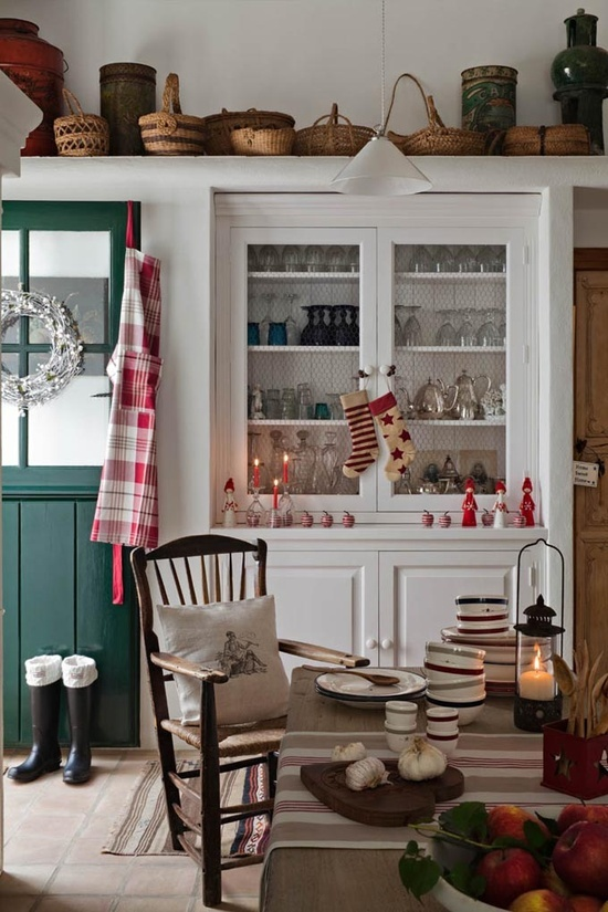 Christmas Decorated Kitchen