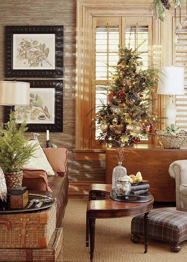 Christmas Living Room Decor Ideas thewowdecor (8)