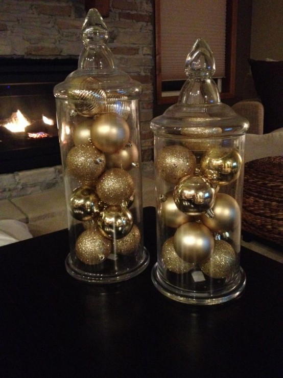 Gold Christmas Decoration Ideas (15)
