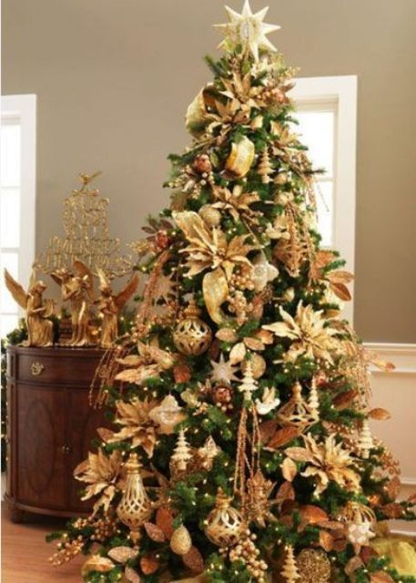 Gold Christmas Decoration Ideas (2)