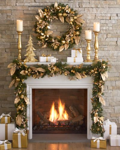 Gold Christmas Decoration Ideas (25)