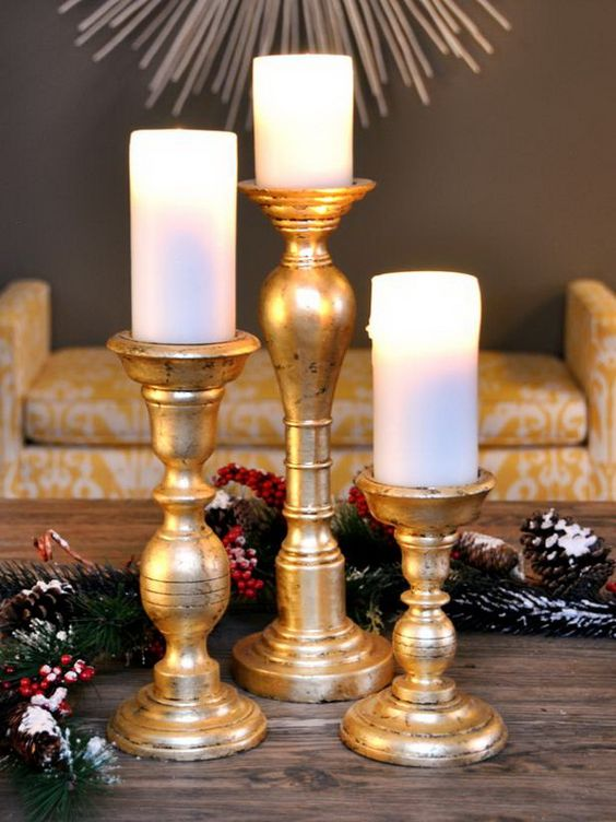 Gold Christmas Decoration Ideas (30)