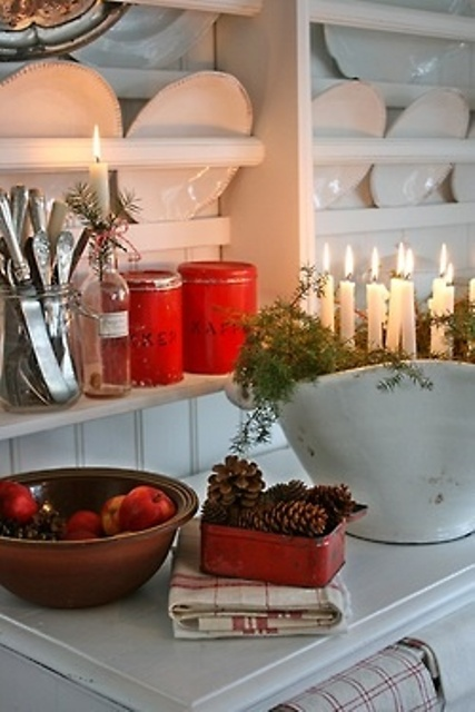Kitchen Christmas Decorating Idea Design