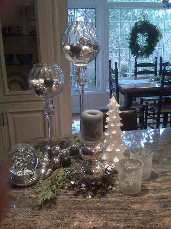 Kitchen Island Christmas Decorating Ideas