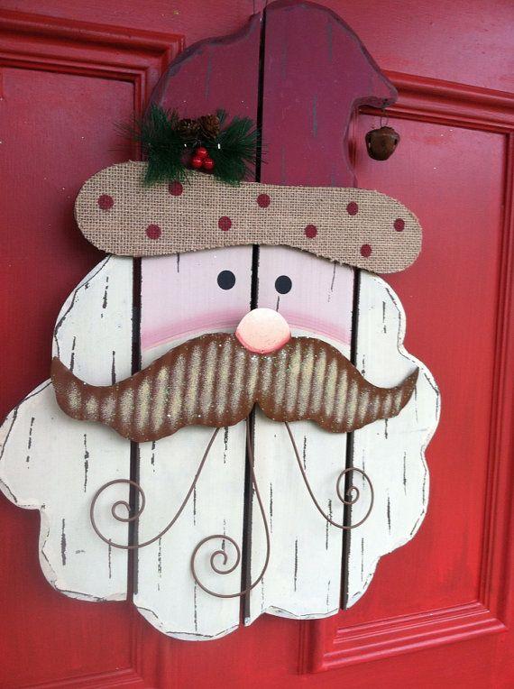 Rustic Wooden Christmas Santa