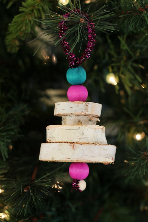 Wood Christmas Tree Ornaments