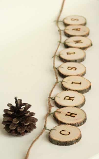 Wooden Christmas Garland