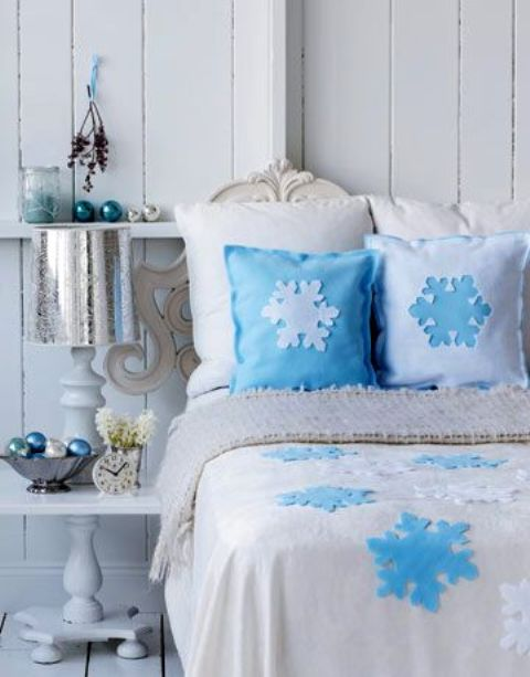 Blue Snowflake Bedding