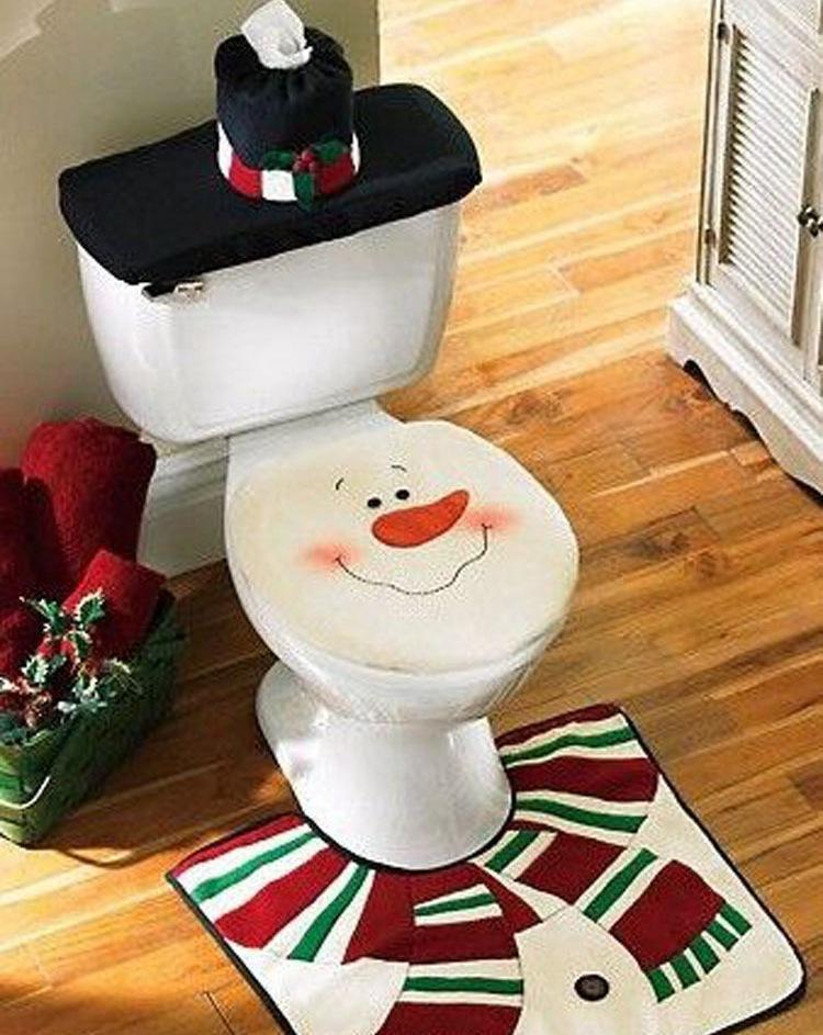 Christmas Bathroom Decorations Sets