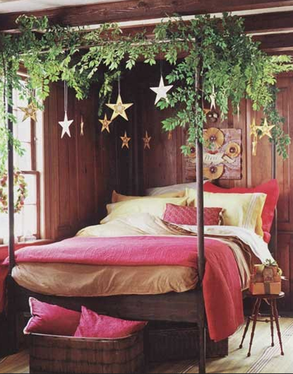 Christmas Bedroom Decorating Idea